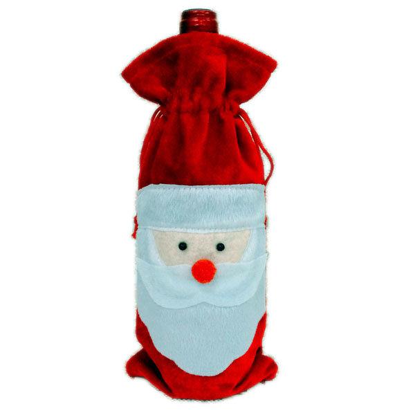 레드 와인 병 커버 가방 크리스마스 디너 테이블 장식 홈 파티 Decors 산타 클로스