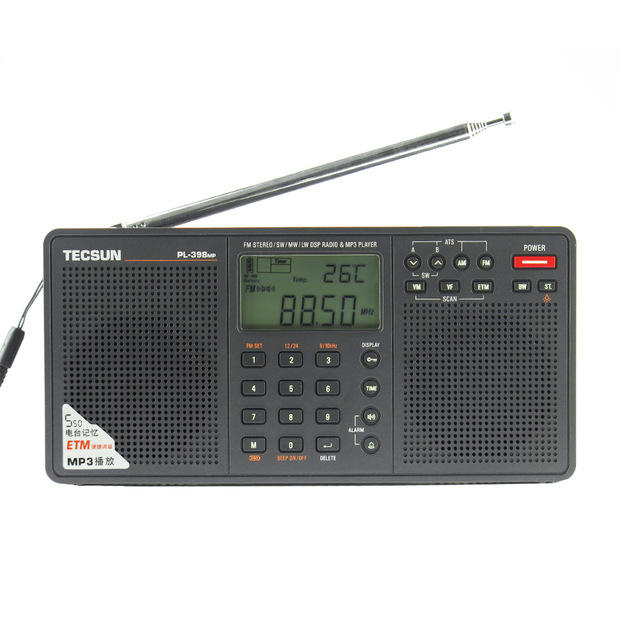 Tecsun PL-398MP 2.2 Inch Full Band Digital Tuning Stereo FM/AM/SW Radio Receiver