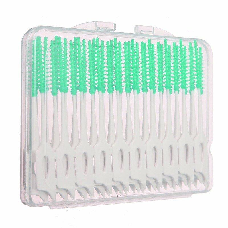 40pcs cepillo interdental entre los dientes hilo elástico masaje palillo de  dientes de las encías 63bf9f61c85d
