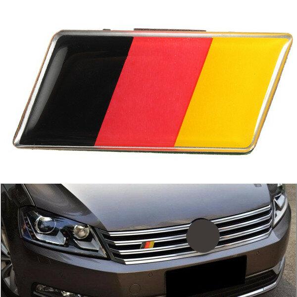 الألومنيوم الألمانية ألمانيا العلم شارة مصبغة شعار سيارة ملصق مائي
