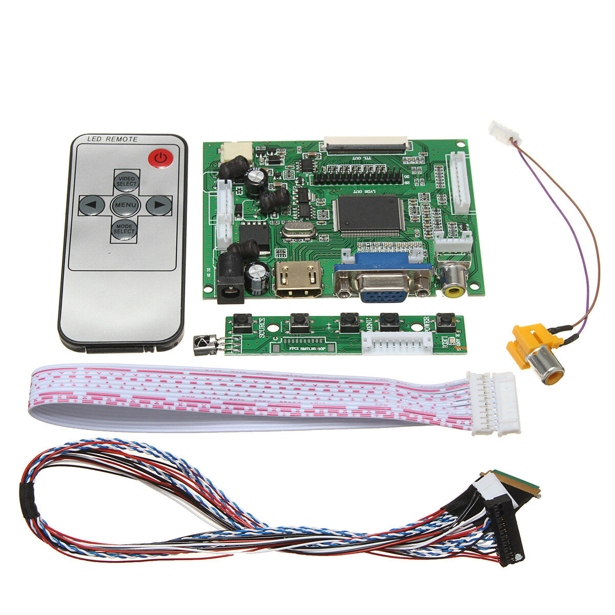 Lcd Controller Board Diy Assembly Kit For 1366x768 156 Inch Led Bulb Driver Circuit Diagram 3w E14 Lp156wh4tla1