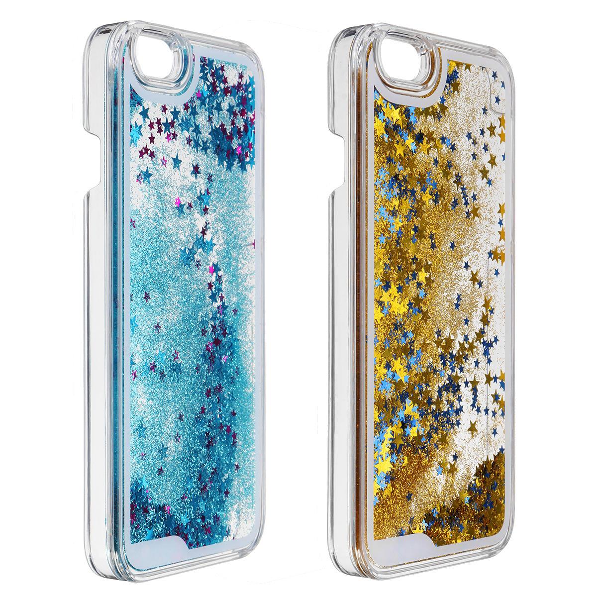 Динамическая жидкость С блестками Quicksand Жесткий ПК Protective Чехол для iPhone 6/6s