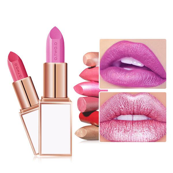 O.TWO.O Matte Lipstick Maquillage Velvet Lip Gloss Longue durée Étanche Lèvres Bâton Beauté Cosmétique