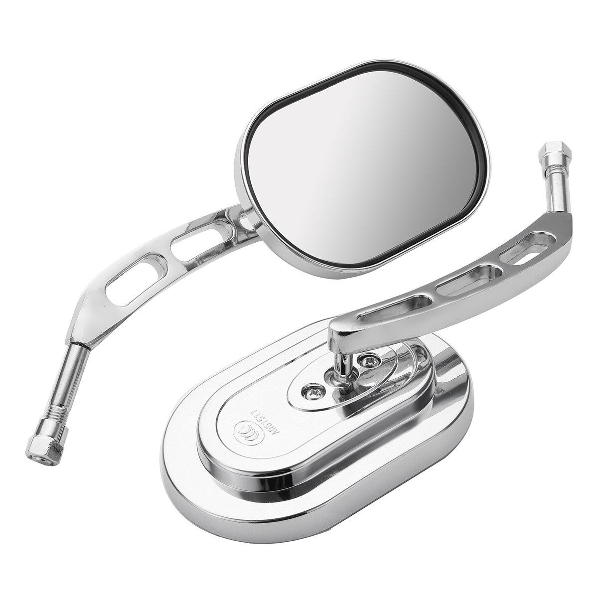 10mm Universal Chrome Motorcycle Mirrors Rear View Side Mirror For Harley/Suzuki/Honda