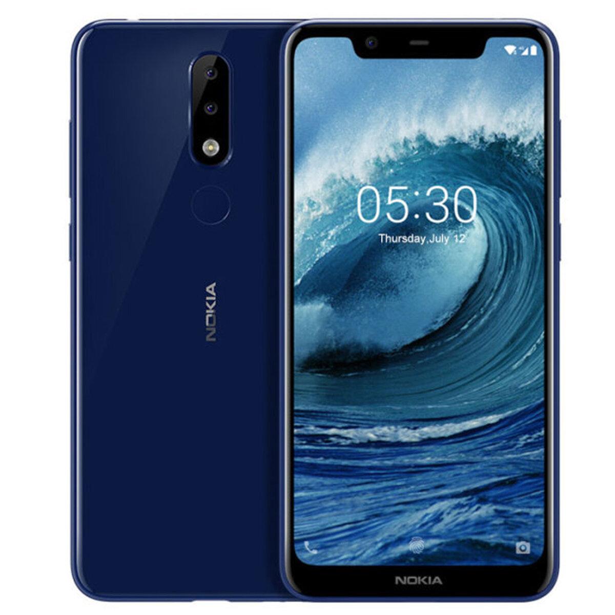 NOKIA X5 5.89 inch Android 8.1 Fingerprint 3GB RAM 32GB ROM Helio P60 Octa Core 4G Smartphone