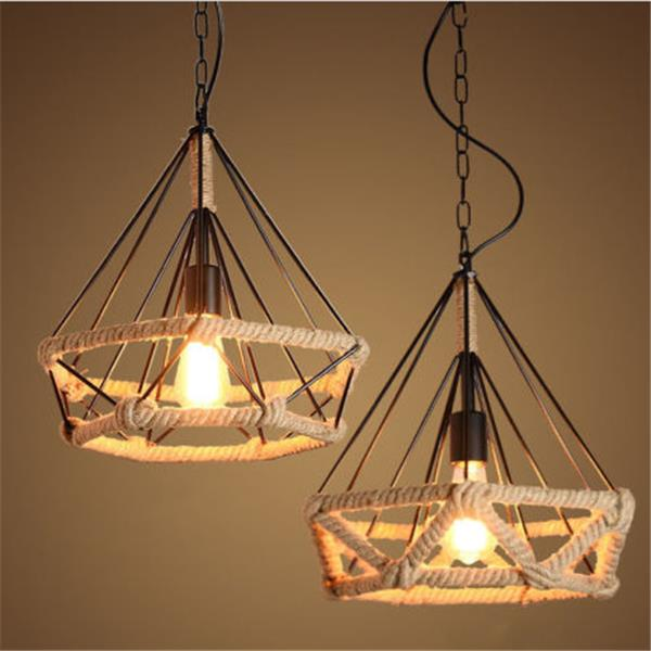 E27 Retro Loft Ceiling Light Chandelier Pendant Lamp For Bedroom Restaurant Corridor Cod