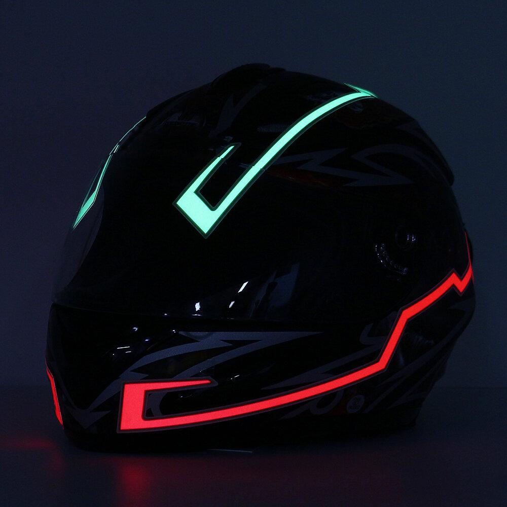 Casque de moto bande de lumière LED Night Light Light Stripe lumineux mode barres incandescentes modifiées
