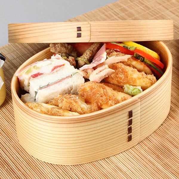 Déjeuner en bois style japonais boîte à bento box étudiant sushi