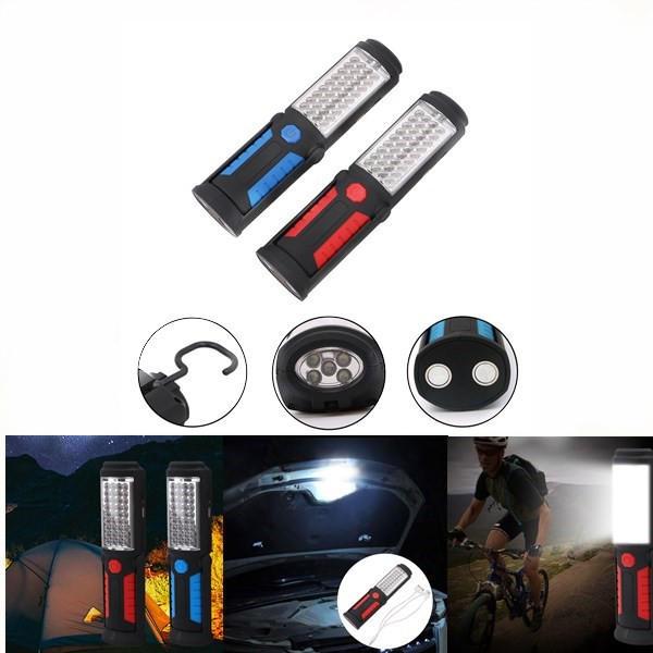 ポータブル41 LED USB充電式磁気懐中電灯キャンプランプ、緊急時のロードサイド車の修理のための