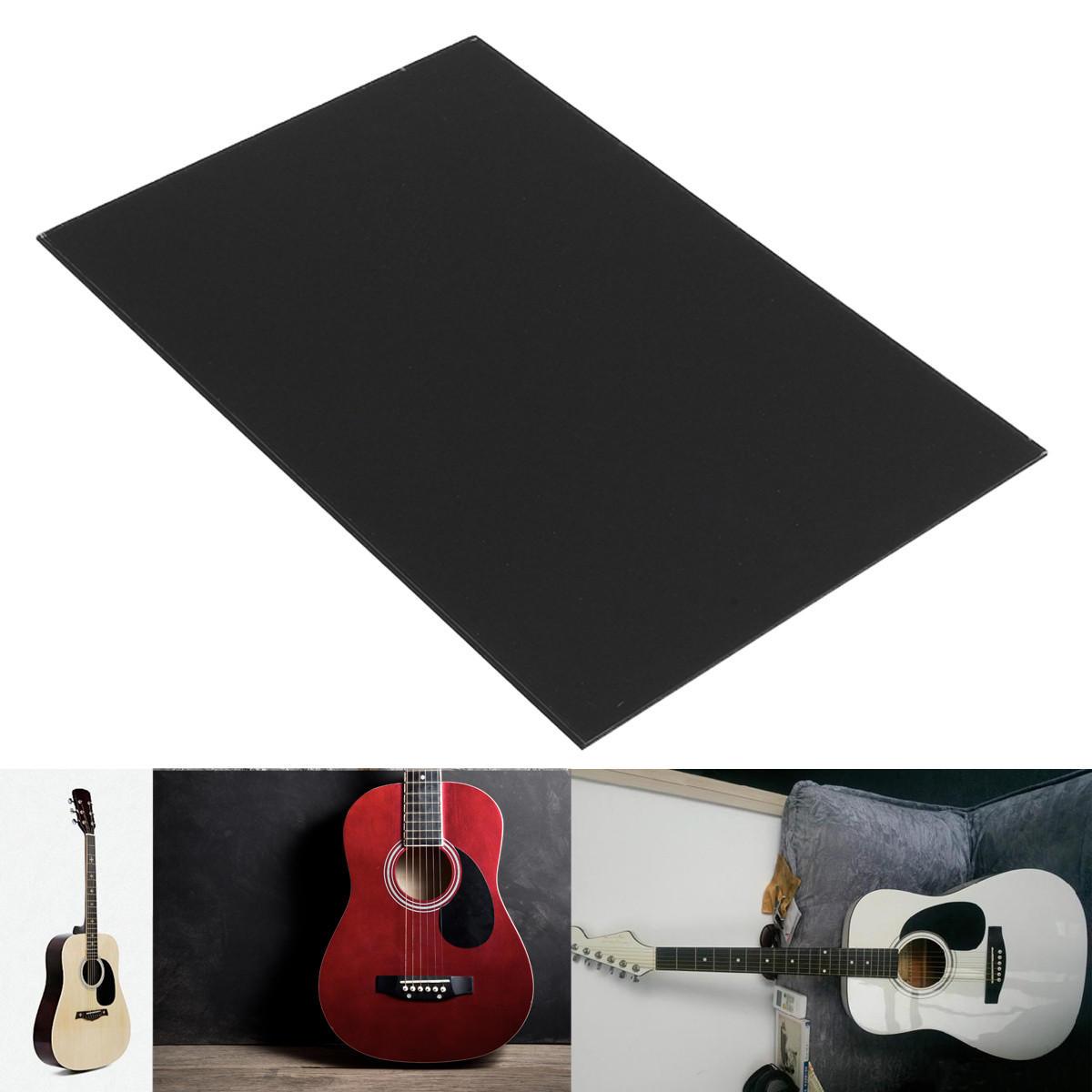 1-Ply Guitar Bass Pickguard Plate Blank Matériau Noir