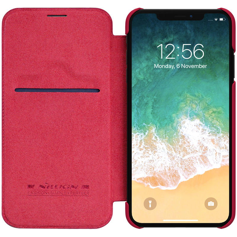 "Nillkin Protective Case For iPhone XS Max 6.5""  PU Leather Card Slot Flip Cover"