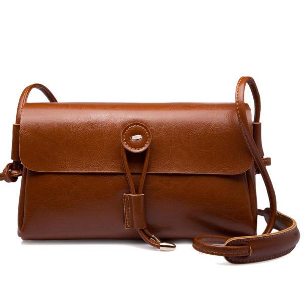 جلد طبيعي غلق بمشبك حقائب الكتف بنات خمر حقائب كروسبودي حقائب الصيف الهاتف