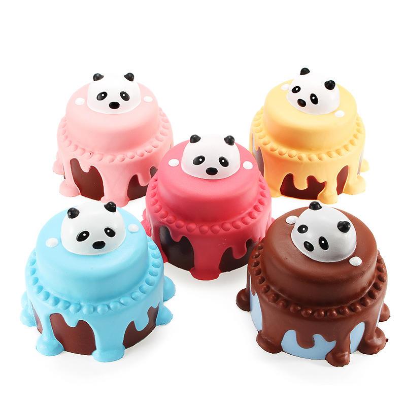 Squishy 팬더 케이크 12cm 천천히 상승 포장 컬렉션 선물 장식 소프트 짜기 장난감
