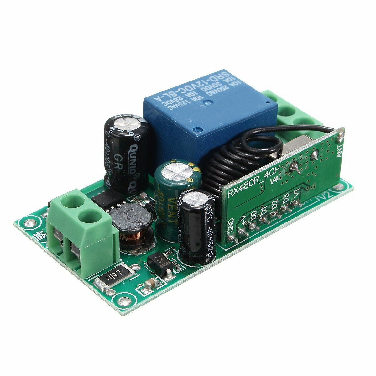 315mhz 433mhz 220v 10a 1ch Channel Wireless Relay Remote Control On And Off The It Self Is Turning A 220vac Circuit Switch Receiver
