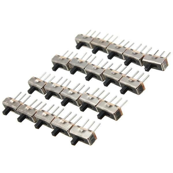 100 adet SS12D00G3 2 Pozisyon SPDT 1 P2T 3 Pin PCB Paneli Mini Dikey Slayt Geçiş Anahtarı
