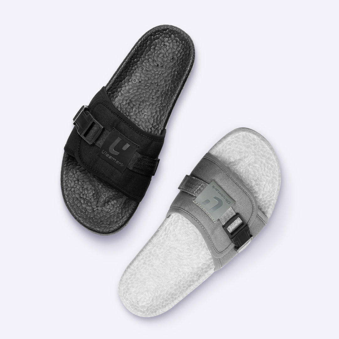 Xiaomi ULEEMARK Popcorn Slippers 2.0 Shock Absorption High Stretch Men Slippers Non-slip Wear Resistant Beach Casual Slippers