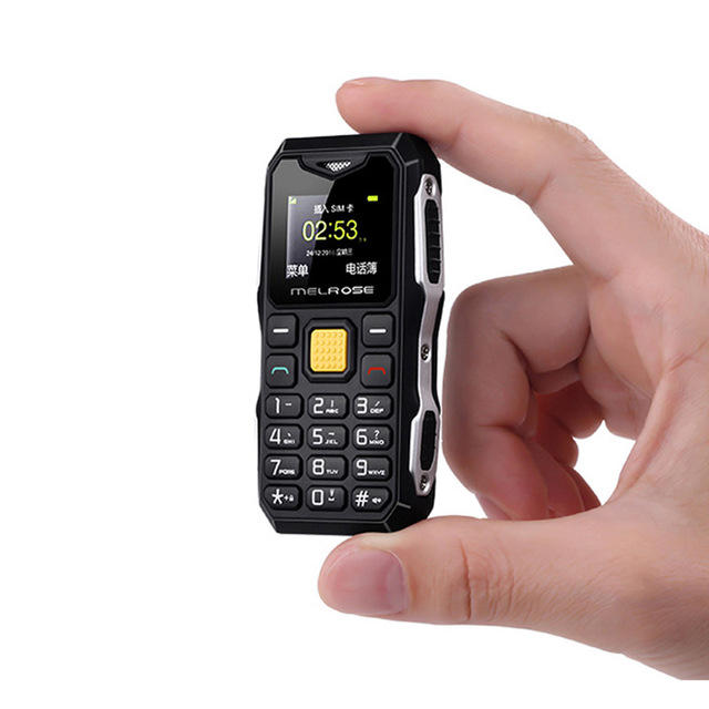 MELROSE S10 1.0 Inch 450mAh Bluetooth Smallest MP3 Music Phone Shockproof Feature Phone COD