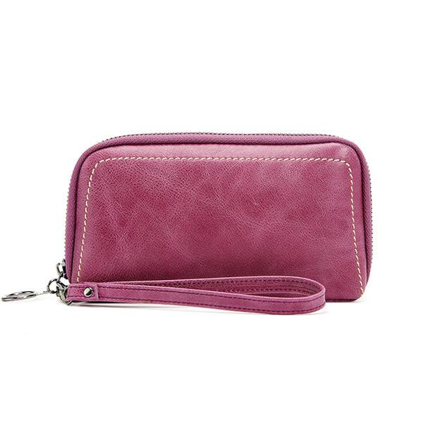 نساء محفظة جلد طبيعي خمر محفظة كبيرة عملة حقيبة مخلب