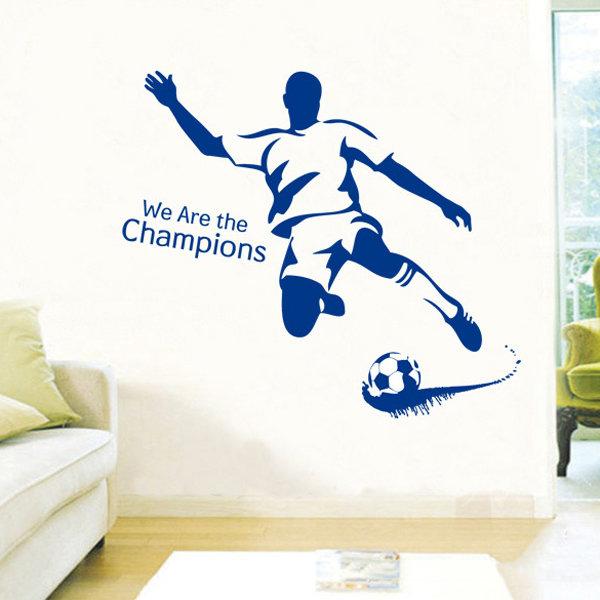 Ben Futbol Duvar Sticker Love Yaratıcı Duvar Stickers Kombinasyon Ev Dekorasyonu