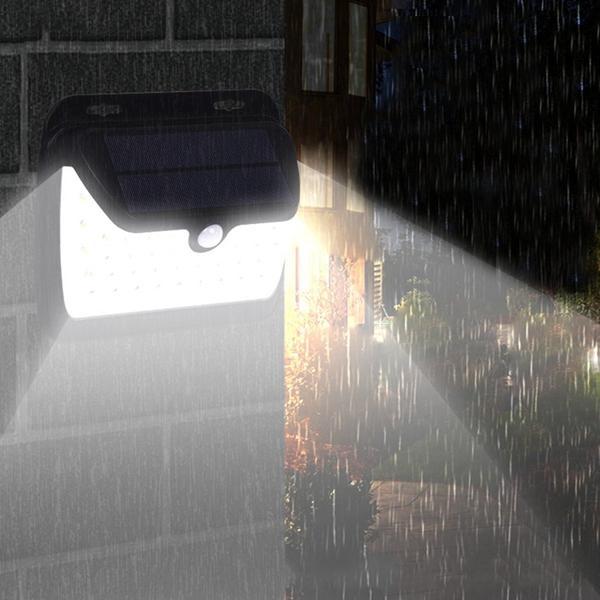 4.5W 42 LEDソーラーパワーライトセンサー&PIRモーションウォールランプ屋外ガーデンパスウェイ用防水