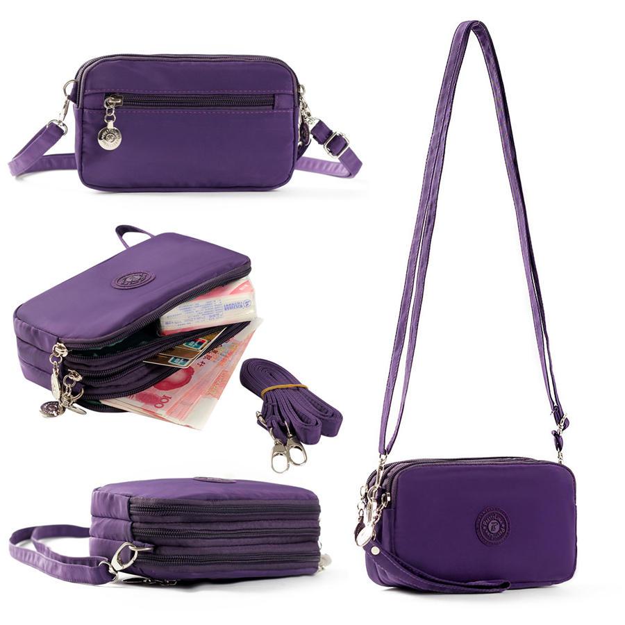 Drie lagen verstelbare riem waterdichte messenger bag telefoon tas voor telefoon onder 5.5 inches