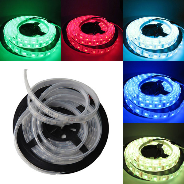 5M SMD 5050 300 LED RGB/White/Warm White/Cool White Silicone Tube IP67 Waterproof Strip Light DC 12V
