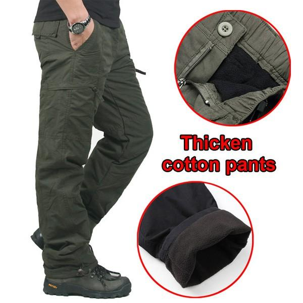 f1cbb6d6e8e Mens Winter Outdoor Sports Trousers Military Tactical Thick Warm Cargo Pants  COD