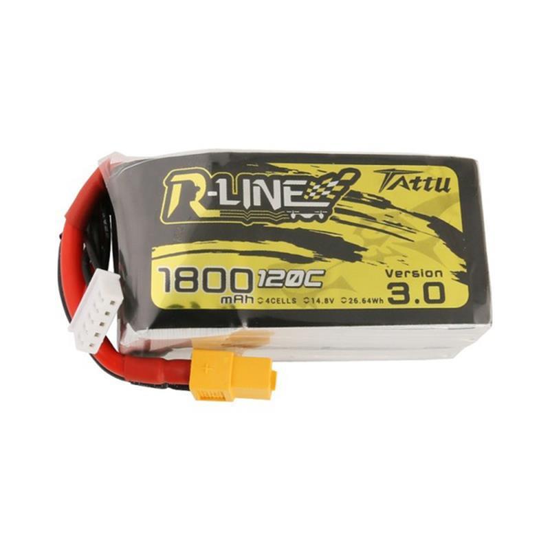 TATTU R-LINE Version 3.0 14.8V 1800mAh 120C 4S Lipo Battery XT60 Plug for FPV RC Drone