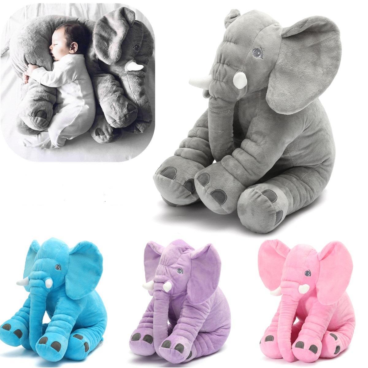 """15.7 """"animal en peluche Soft coussin bébé dormir Soft oreiller éléphant en peluche jouet mignon pour tout-petit enfant cadeau"""