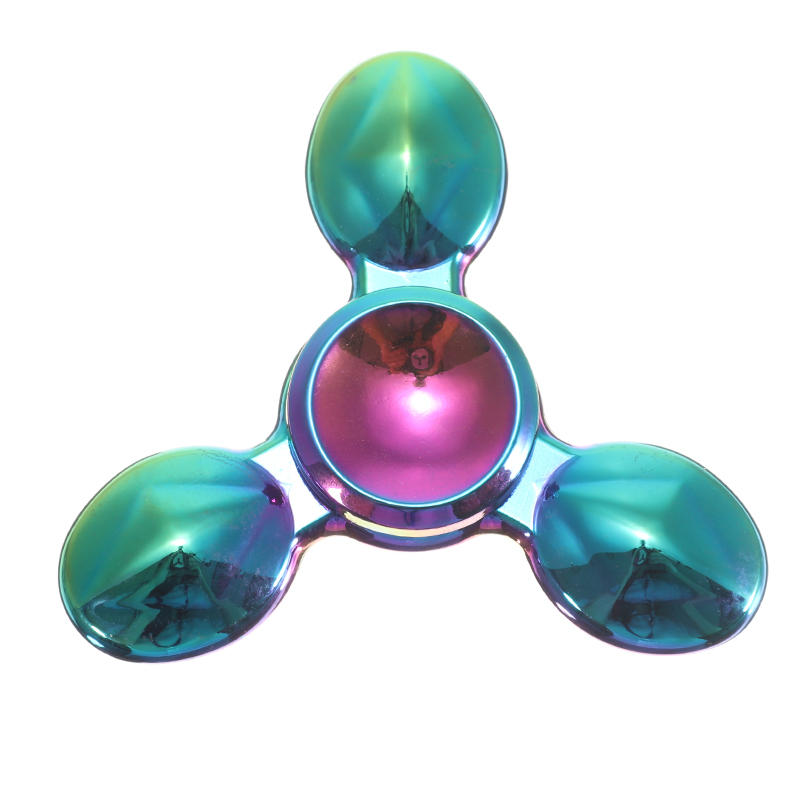 Zinc Alloy Tri Spinner Colorful Rotating Fidget Hand Spinner Stand ADHD Autism Reduce Stress Toys