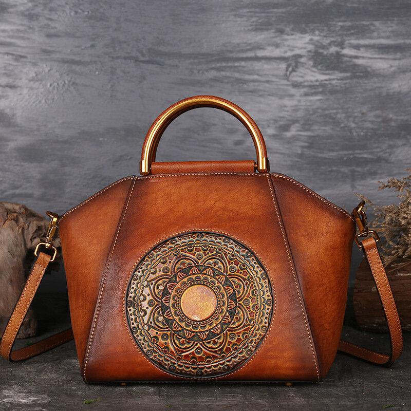 de5fce95125d7 torebka damska z prawdziwej skóry w stylu vintage totem w Banggood