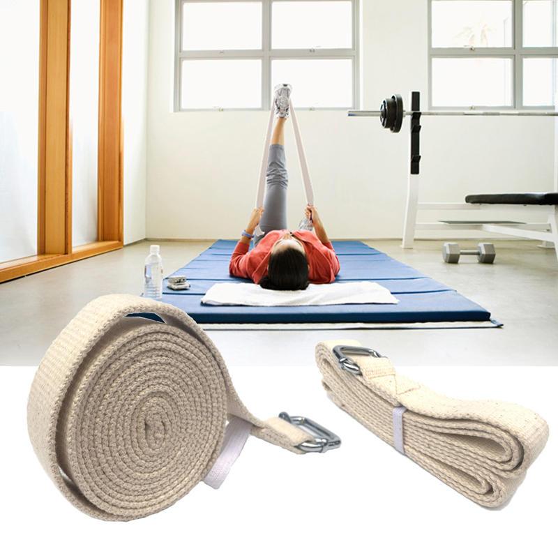 KALOAD 300 cm Pur Coton Pilates Yoga Ceinture Élastique D-Anneau Boucle Formation Pull Up Assist Exercice De Remise En Forme Yoga Bandes De Résistance