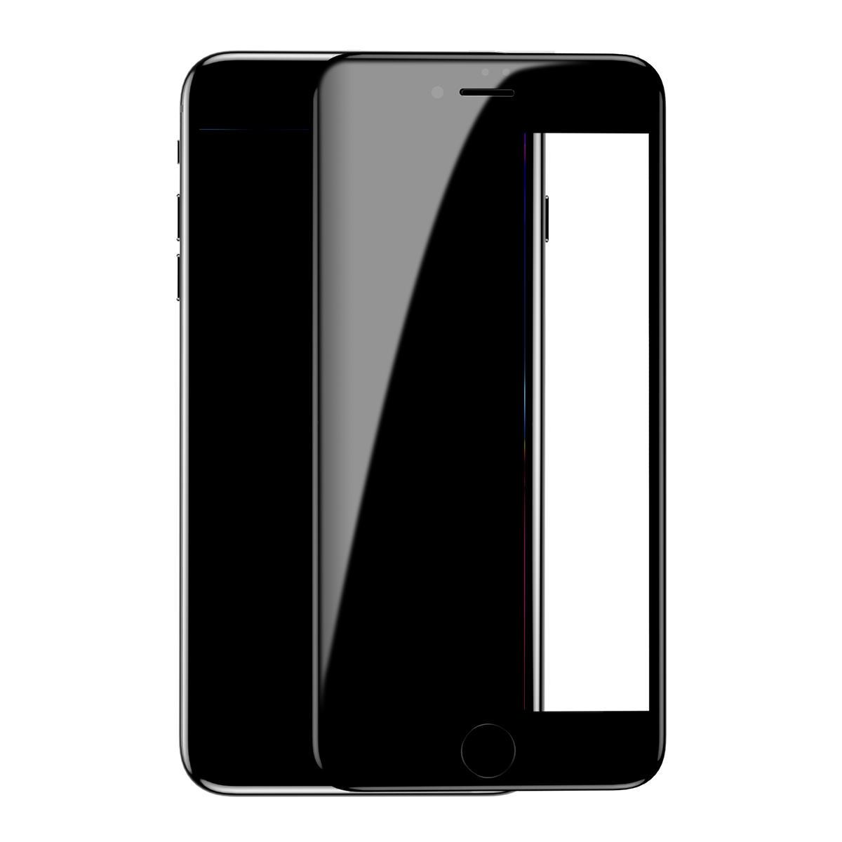 Baseus Vrai protecteur d'écran de verre trempé anti-déflagrant de bord incurvé par 7D vrai pour iPhone 7 Plus/8 Plus