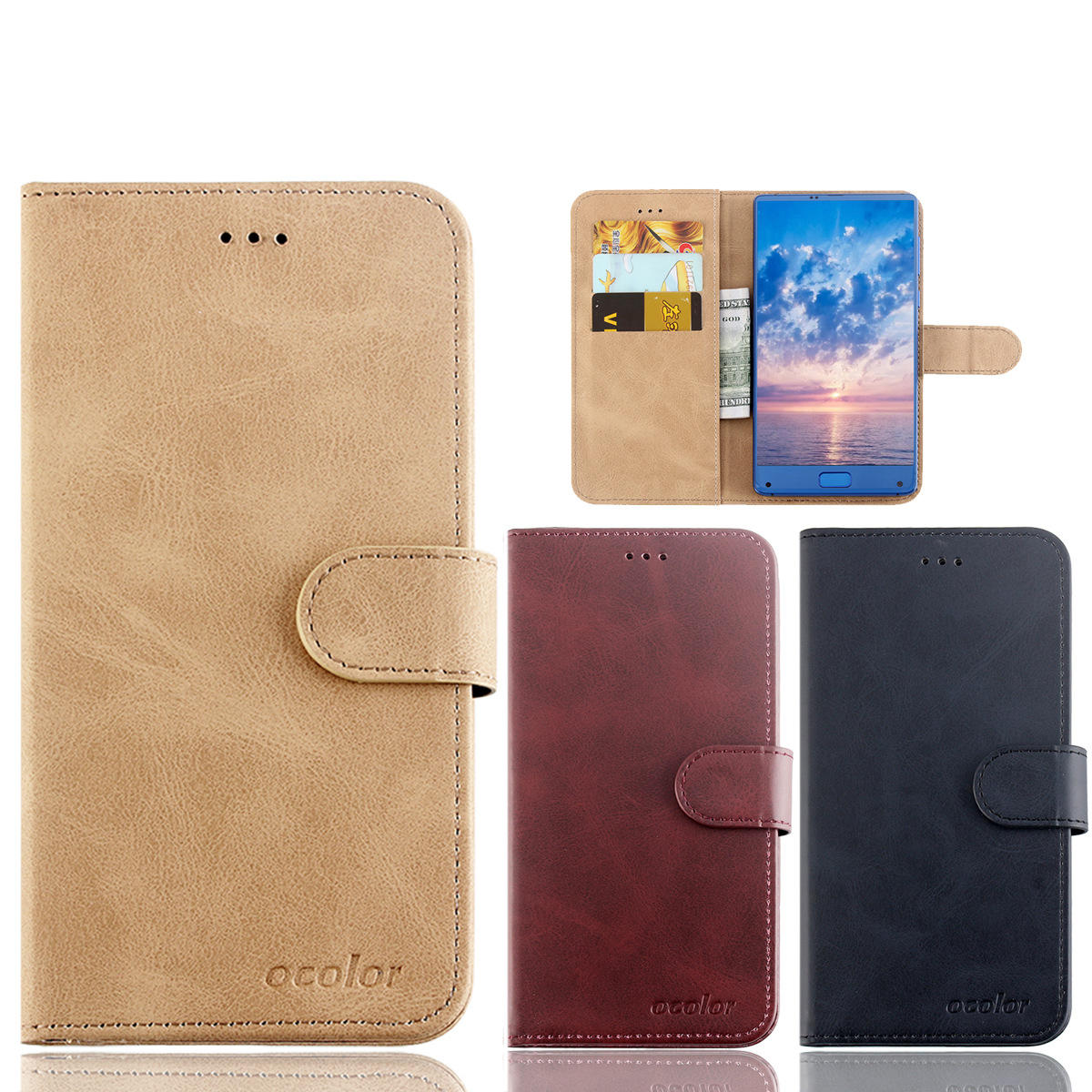 Bakeey Flip Magnetic Card Slot With Stand PU Leather Case Protective Case For UMIDIGI F1 / UMIDIGI F1 Play