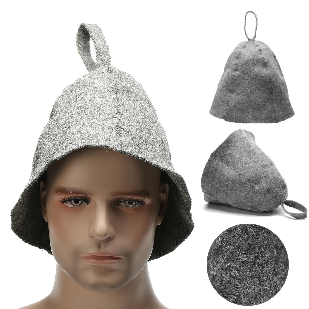 77a525c5a57 grey 100% wool felt sauna hat hair head protect form steam room overheating  at Banggood sold out