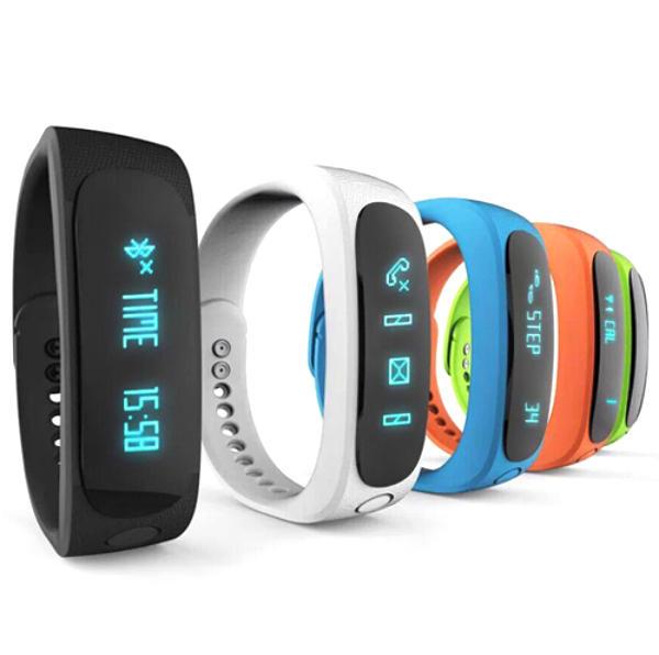 E02 สมาร์ทบลูทู ธ SmartBand สายรัดข้อมือ การออกกำลังกาย สร้อยข้อมือกีฬา