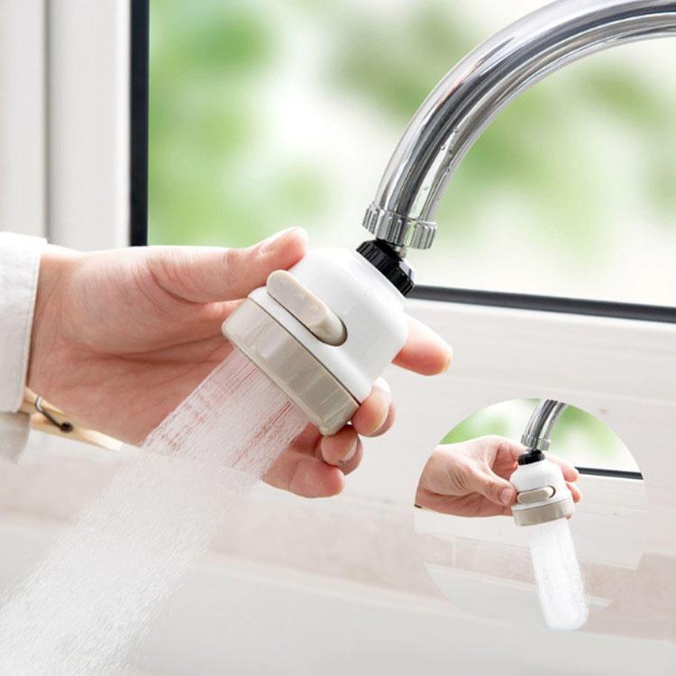 360 Rotary Faucet Booster Dispositivo di filtraggio dell'acqua 3 Modalità di commutazione Risparmio idrico Kit ad alta pressione Spruzzatore Rubinetti Cucina Accessori bagno