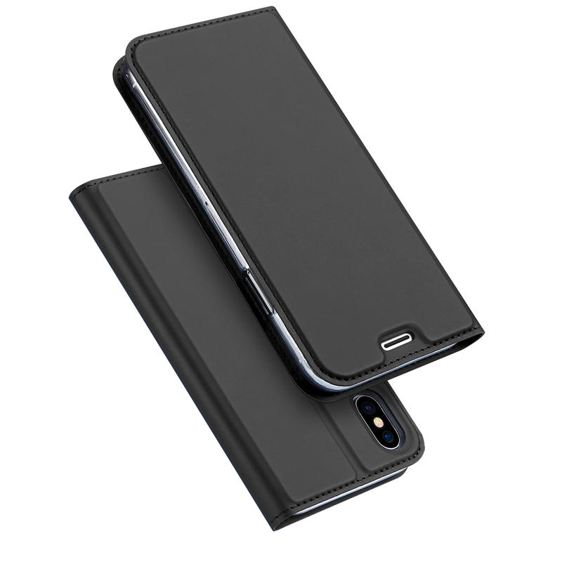 DUX DUCIS Cover Magnetico Rivolge con Slot di Carta Supporto in Pelle PU per iPhone X