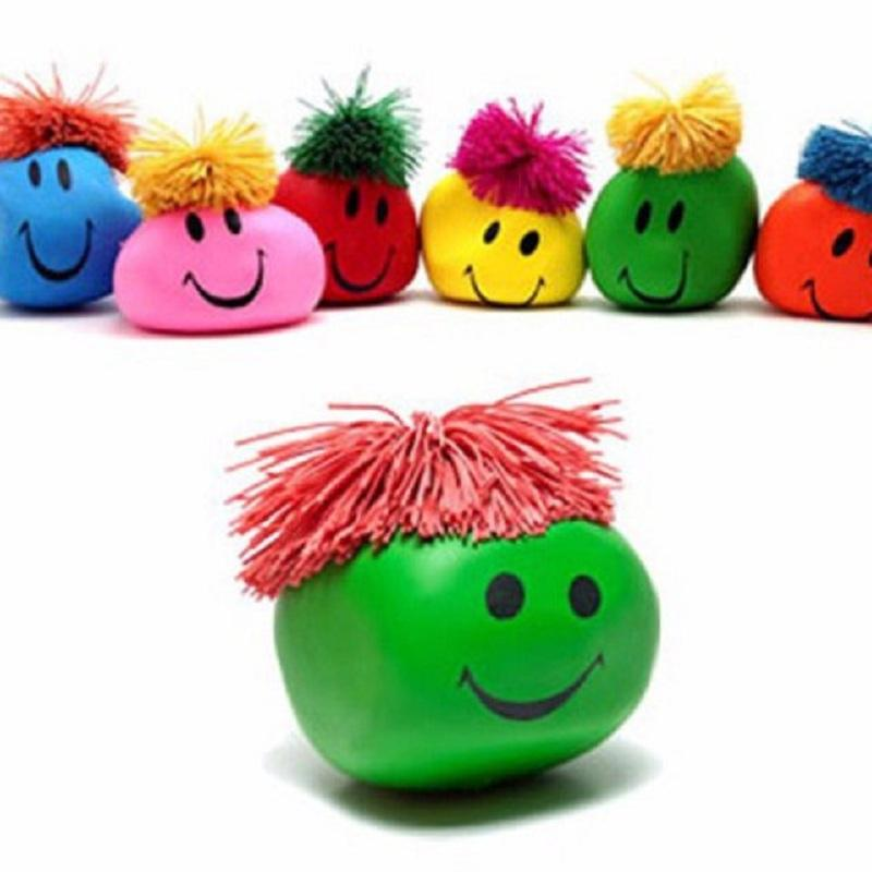 1PC Funny Novelty Gift Creative Vent Human Face Ball Anti Stress Relief Toy Soft Bouncing Squeeze