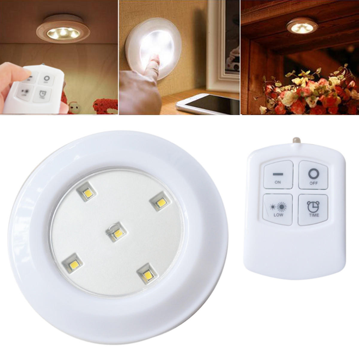 Get Large Amount Of Illumination With Led Kitchen Ceiling: Wireless Remote Control Bright Led Night Light Battery