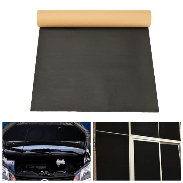 50cmx100cm Sound Proofing Deadening Anti-noise Insulation Heat Cell Foam For Car Home Office