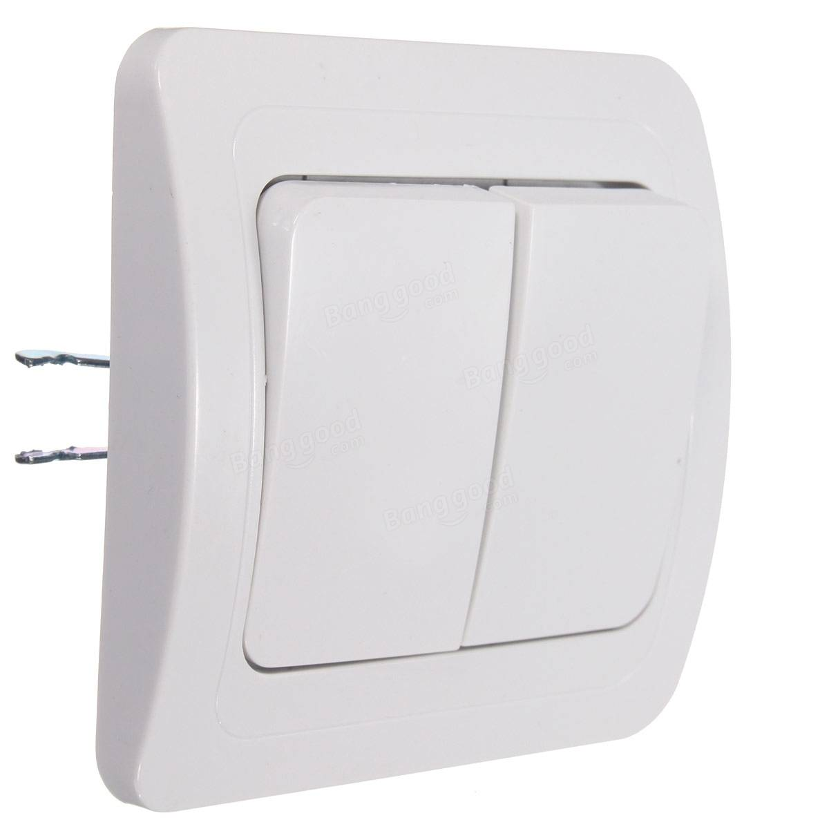 push button 2 gang 1 way controller dimmer wall socket panel light lamp  switch Sale - Banggood.com sold out