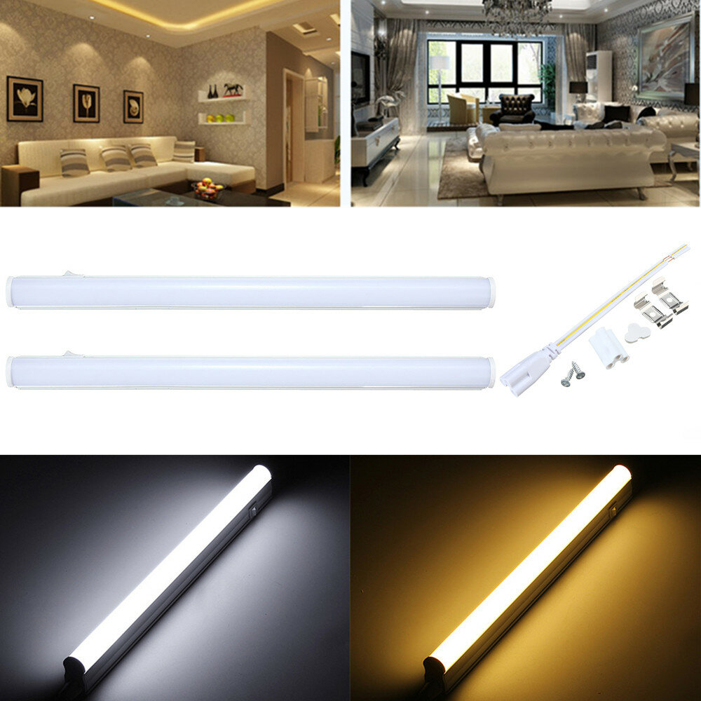 30cm 5w 440lm Smd2835 T5 Led Fluorescent Light With Switch Warm Pure White Ac85