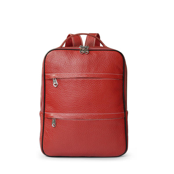 Women Genuine Leather Fashion Cute Solid Backpack