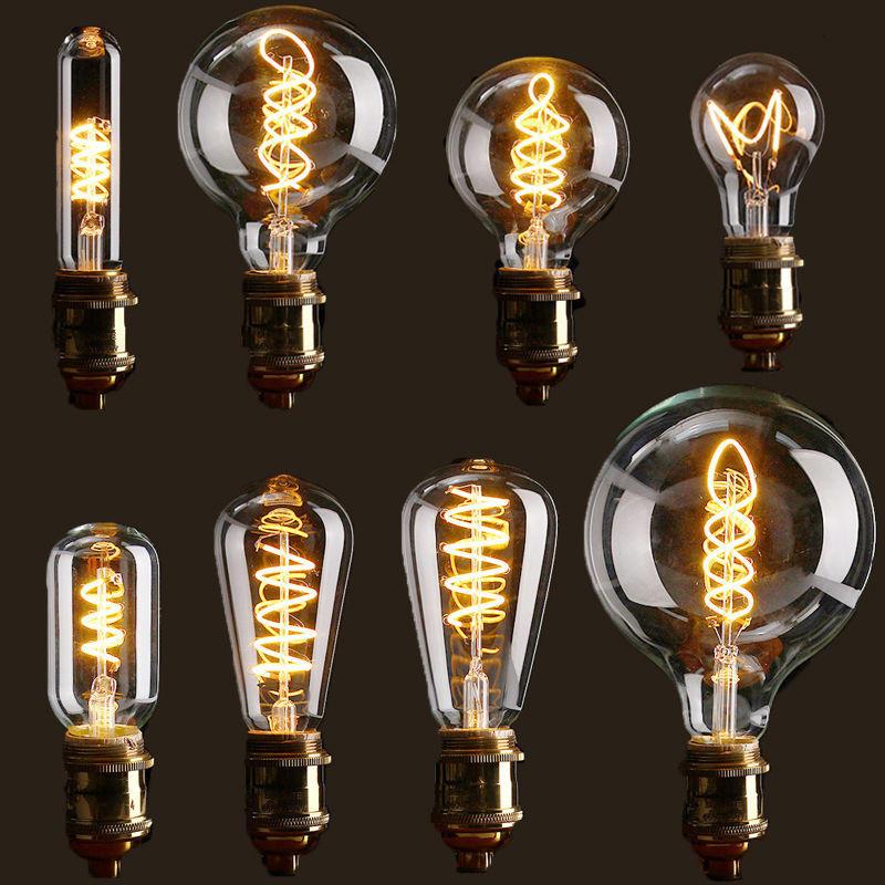 E27 ซองจดหมายแบบปรับแสงได้ LED วินเทจ Retro Industrial Edison โคมไฟหลอดไฟในตัวหลอดไฟ AC110V