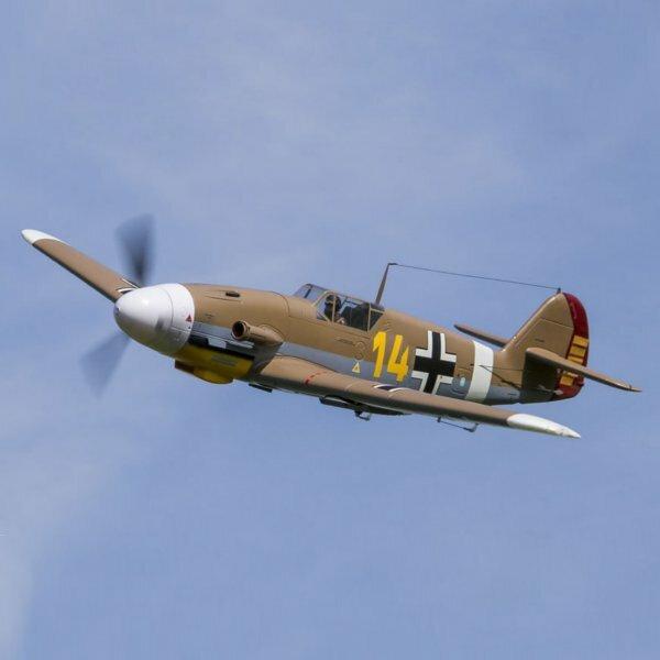 Fms bf 109 aviones pájaros de guerra Bf109 marrón-pnp avión rc 1400mm