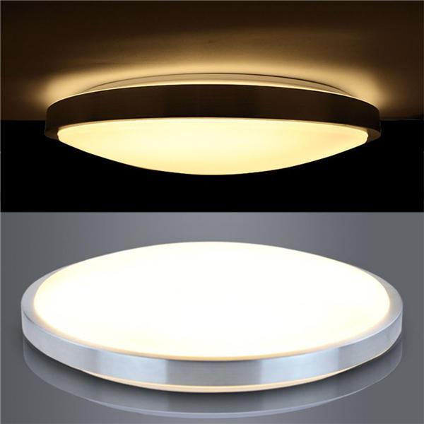Ceiling Lighting Led Ceiling Lights Kitchen 110 220v Flush: 12w 24w Modern Acrylic Led Ceiling Light Round Flush Mount