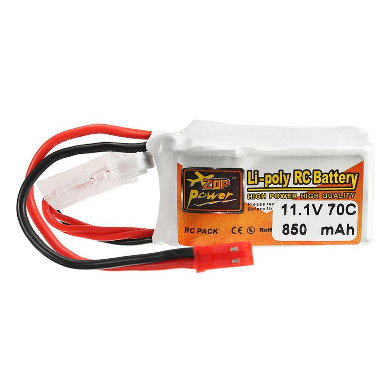 ZOP Power 11.1V 850mah 70C 3S  Lipo Battery JST Plug