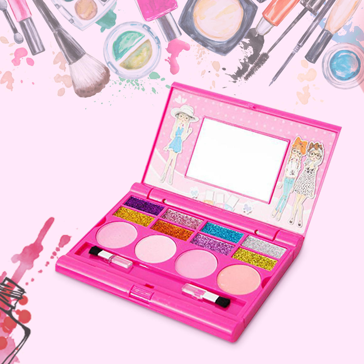 Eye Shadow Eye Shadow Diy Makeup Tools Children Lovely Plastic Makeup Comestics Kit