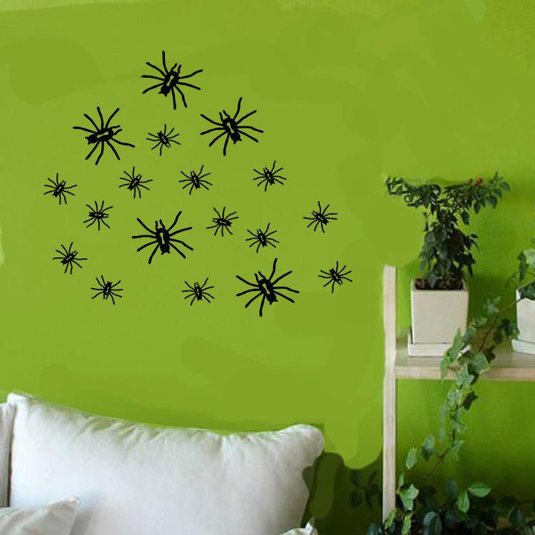 KST-5 할로윈 PVC 벽 스티커 거미 거실 침실 장식 벽 스티커